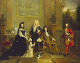 Madame de Ventadour with Portraits of Louis XIV and his Heirs