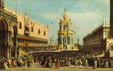 Venice: the Giovedi Grasso Festival in the Piazzetta