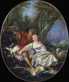 Shepherd and Shepherdess Reposing