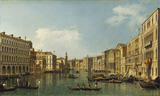 Venice: the Grand Canal from the Palazzo Foscari to the Carit