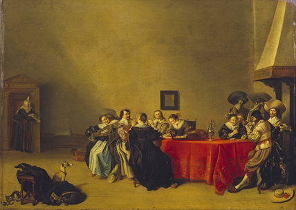 A Merry Company at Table
