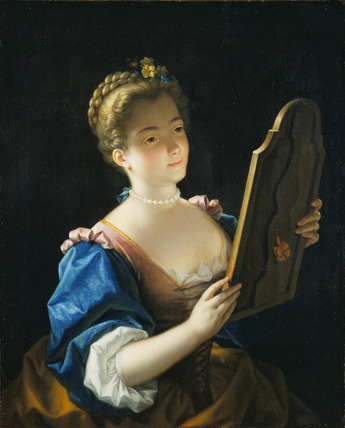 A Lady at her Mirror
