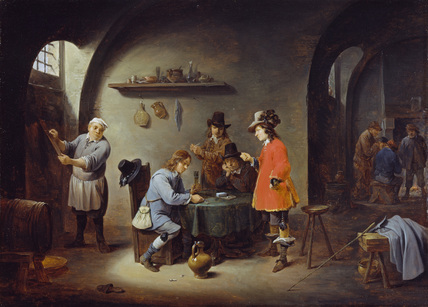 Gambling Scene at an Inn