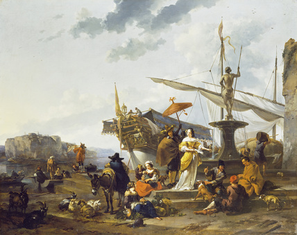 A Southern Harbour Scene