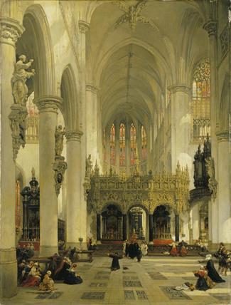 Lierre: Interior of Saint-Gommaire