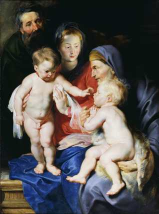 The Holy Family with Saint Elizabeth and Saint John the Baptist