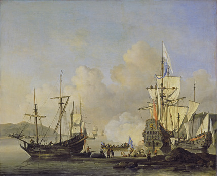 Calm: French Merchant Ships at Anchor