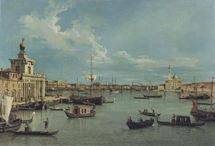 Venice: the Bacino di San Marco from the Canale della Giudecca