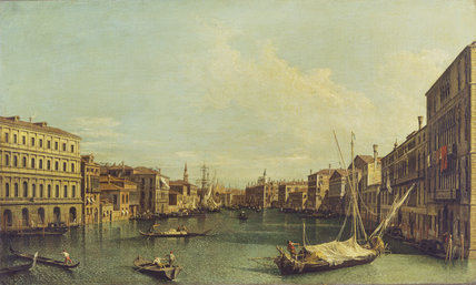 Venice: the Grand Canal from the Palazzo Foscari to the Carità
