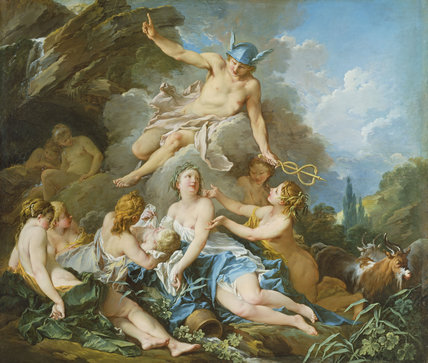 Mercury confiding the Infant Bacchus to the Nymphs