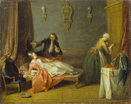 The Boudoir By Jean Baptiste Pater At The Wallace Collection