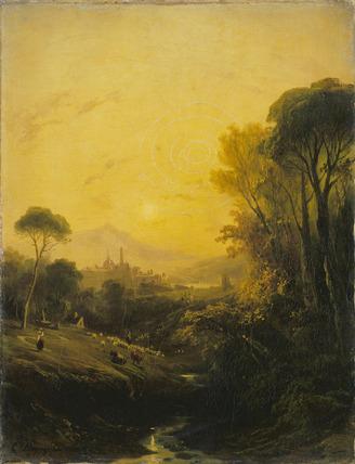 Italian Landscape: Evening