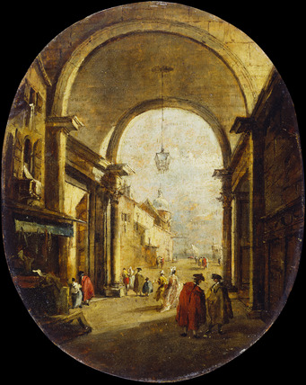 Capriccio with the Archway of the Torre dell'Orologio