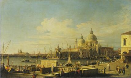 Venice: the Dogana and Santa Maria della Salute from the Molo