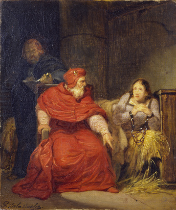 Joan Of Arc In Prison By Hippolyte Paul Delaroche At The
