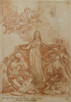 The Virgin of Mercy with Saints Bonaventure and Eulalia
