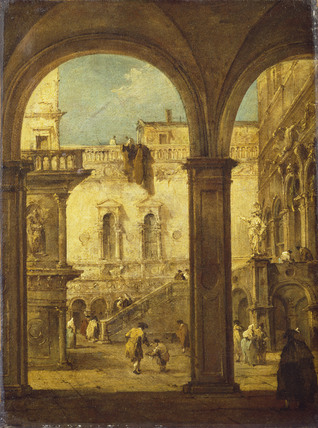 Capriccio with the Courtyard of the Doge's Palace