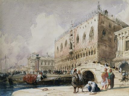 Venice: the Doge's Palace from the Ponte della Paglia