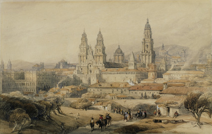 Santiago: the Cathedral from the south-west