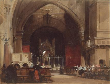 Milan: Interior of Sant' Ambrogio