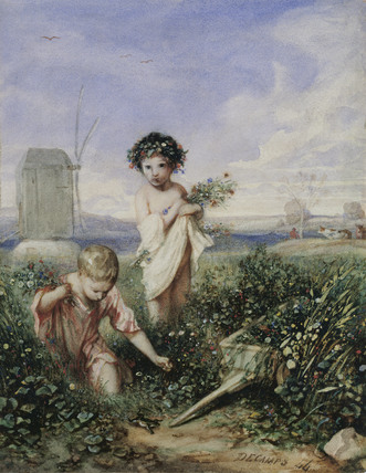 Children gathering Flowers