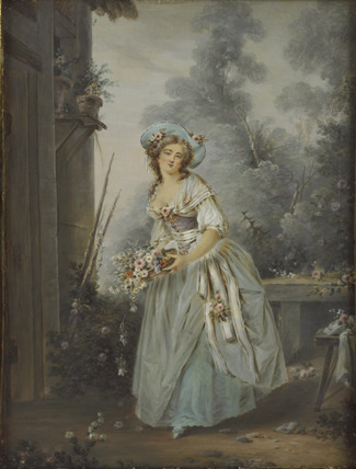 An Unknown Girl as Flora in a landscape