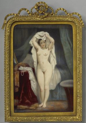 A Girl preparing for a Bath