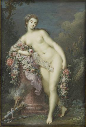 Venus leaning against an Altar