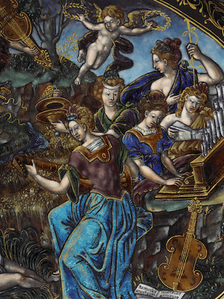 Apollo and the Muses, Detail of a Dish