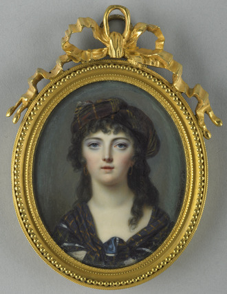 An Unknown Woman in Scottish costume