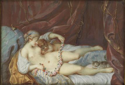 Venus and Cupid reposing