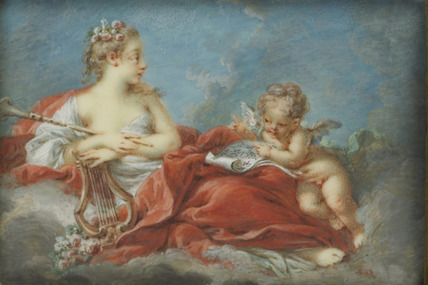 A Muse holding a lyre, after Boucher