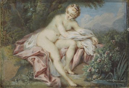 A Nymph preparing to bathe