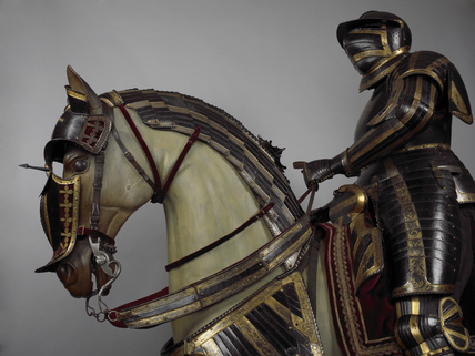 Detail from equestrian armour