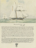 'Boarding of the Spanish slave schooner Esperance by midshipman William Mansell commanding the gig of HMS Morgiana December 1817, with a biography of William Mansell below'