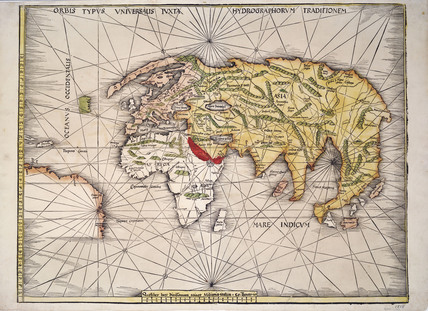 World Map After Ptolemy 1513 Memoryprints Com High Quality Art