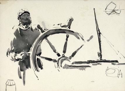 Sketch of seaman steering
