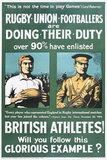'Rugby Union Footballers are Doing Their Duty', 1915