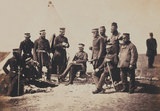 Lieutenant-General Sir J L Pennefather and Staff, Crimean War, 1855