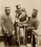 Colour-Sergeants J Stanton, Kester Knight and W Bruce, Royal Sappers and Miners, 1856