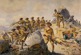 4th Gurkha Rifles fighting a 'Rear-Guard Action', 1908 (c)