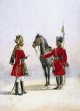 Alwar Lancers: Commandant and a Chohan Rajput (with lance), 1910