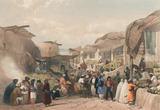 'The Main Street in the Bazaar at Caubul in the Fruit Season', 1840 (c)