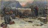 'The Gordon Highlanders: Daybreak in the trenches', 1879
