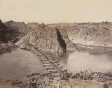 Bridge of boats across the River Indus, 1879 (c)
