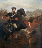 Lieutenant Frederick Robertson Aikman, 4th Regiment [Bengal] Native Infantry winning the VC at Lucknow, 1 March 1858