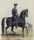 Royal Horse Guards, Riding Master and Rough Riders, 1828.