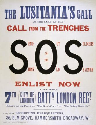 The Lusitania's Call', 1915 (c)