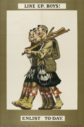 'Line Up, Boys! Enlist To-day', 1915 (c)