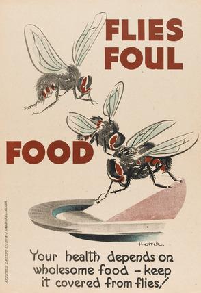 'Flies Foul Food', 1944 (c)